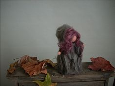 Needle Felted little Elf Wool carded by Radura by Radura Incantata