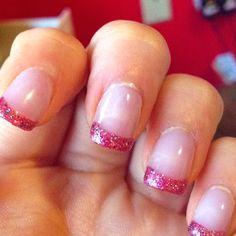 Nails * Hot Pink / Glitter...