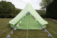 How cute is this tent??  I've learned they're called Bell Tents and from what I have read and seen so far, they're popular in the UK.