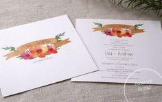 Flouncy Floral | Alannah Rose | Wedding Invitations + Stationery