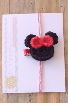Crochet Hair Clip Girls Hair Clip Baby Hair Clip by littlepunky, $4.00