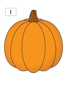 Pumpkin Counting Mats 1