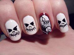 DIY halloween nails: DIY Halloween nail art : Nail art halloween