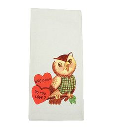 Love this 'Whoo Do You Love' Kitchen Towel on #zulily! #zulilyfinds