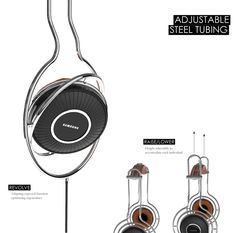 VOLVE Headphones merge innovative operation, minimalistic character & high-end technology to blur the boundaries between music and mind. Sure, they're sleek and stylish, but what sets