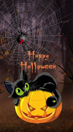 Halloween Wallpaper For iPhones and Android, Visit For More Wallpapers. Halloween Artwork, Halloween Village, Halloween Painting, Halloween Pictures, Halloween Cards, Holidays Halloween, Spooky Halloween, Halloween Themes, Happy Halloween