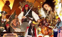 """""""PIRATEN DER KARIBIK!"""" Exklusive Show Highlights mit eines der weltweit besten Piraten Kapitän Jack Sparrow Doubles, Doppelgänger, ... seiner Piraten Schiffsmannschaft, rassige & temperamentvolle Piraten Bräute, lebende Meerjungfrauen Sirene, dem gefürchteten Piraten Zombie, Piraten Marsch Trommler & musikalische Animationen, Schwertkämpfe, atemberaubende Feuershows, Wahrsagerin & Orakel, Albino Riesenschlangen, Zigeunertänze mit reizvollen Zigeunerinnen, ...!  www.pandoramichelelorenz.com"""
