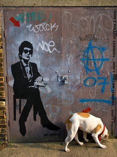 Dylan and the dog, London, 2008