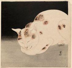 Kawanabe Kyosai: Sleeping Cat , 1885-1889.