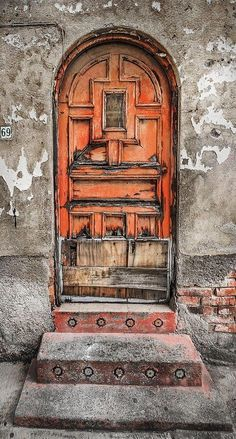 This door in Mexico City has been patched up a few times!