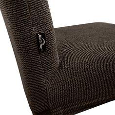 4 x Auralum® Café Clair Housses pour Chaises Bi-élastique Couverture de Chaise Stretch Housses de Chaise de Salle à Manger Petit Motif en vagues-Taille M