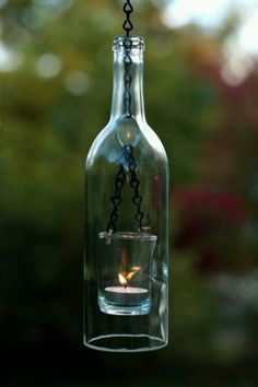Great way to reuse wine bottles !