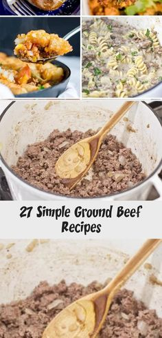 Sometimes the easiest things to cook are the tastiest, and these ground beef recipes are all simple, easy and budget friendly! Turkey Meat Recipes, Stew Meat Recipes, Meat Recipes For Dinner, Healthy Meat Recipes, Classic Meatloaf Recipe, Dinner With Ground Beef, How To Cook Beef, Ground Beef Recipes Easy, Bbq Meat