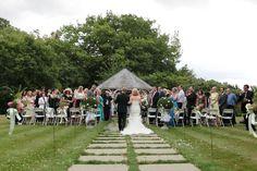 Wedding ceremony image at Rowhill Grange