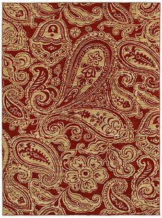 "Area Rug in style ""Verona"" color Red.. great large scale modern Paisley pattern - by Shaw Floors"