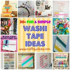 Enter to win 25 rolls of Washi Tape, and be sure to tell them that I sent you… Washi Tape Uses, Washi Tape Cards, Duct Tape Crafts, Washi Tapes, Masking Tape, Tapas, Craft Tutorials, Craft Projects, Craft Ideas