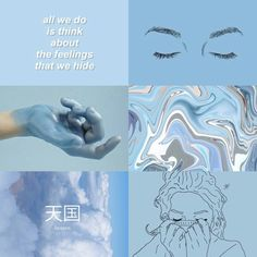 light blue aesthetic tumblr - Google Search