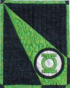 Jennys Quilts & Blankets: The Green Lantern Baby Blanket This is a great way to do a superhero baby quilt. I could see batman or superman or she-ra...