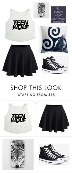 """""""Untitled #9"""" by keiko-uyen ❤ liked on Polyvore featuring WithChic and Converse"""