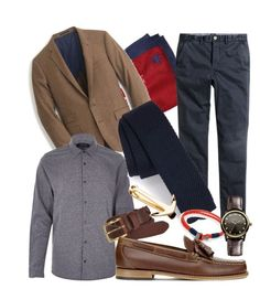 casual flare by jeffrie-st-james on Polyvore featuring polyvore fashion style J.Crew H&M Vivienne Westwood River Island Topman Bass Weejuns Brooks Brothers Ted Baker MIANSAI women's clothing women's fashion women female woman misses juniors