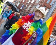 Sir Ian McKellen greets the 2010 Manchester Pride parade at its finishing point.     Members of Greater Manchester Police's Lesbian and Gay Staff Affiliation (LAGSA) joined lesbian, gay, bi-sexual and transgender colleagues from forces across the country to take part in the Manchester Pride parade.     For more information about Greater Manchester Police please visit our website.  www.gmp.police.uk