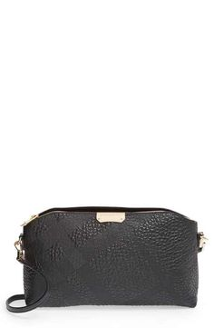 Burberry 'Small Chichester' Check Embossed Leather Crossbody Bag