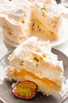 Beza z marakują/Passion fruit meringue