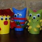 Loo Roll Monsters - TP Roll tubes, paint, google eyes, and whatever scraps you have in the bottom of the craft bin. thanks Red Ted