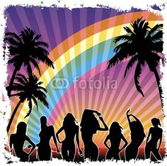 #Young #Girls #dancing on #Party on #Exotic #Beach by #Night © #Bluedarkat - on #Fotolia!