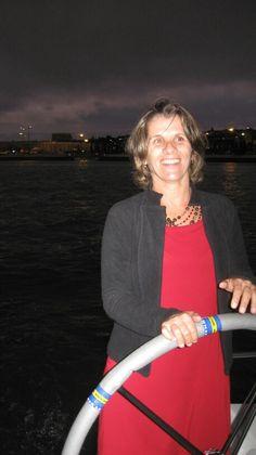 Velejando após o Batismo do barco no Rio Tejo