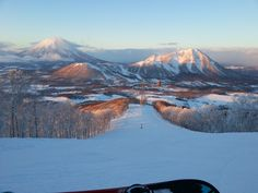 Stunning views when boarding in Japan