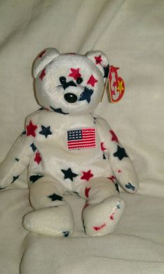"""Retired """"Glory"""" TY beanie baby """"RARE"""" with tag errors. Valuable Beanie Babies, Beanie Babies Value, Beanie Baby Bears, Ty Beanie Boos, Avon Perfume, Perfume Bottles, Expensive Beanie Babies, Ty Bears, Ty Babies"""
