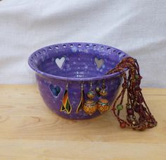 Jewelry earring bowl for organizing displaying your jewelry ceramic pottery for Karli to make