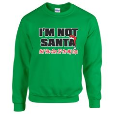 I'm Not Santa But You Can Sit On My Lap. Unisex Sweater. Christmas Sweater . Funny Christmas Sweater.  Naughty Sweater. Christmas Sweater by SuperTeesandHats on Etsy