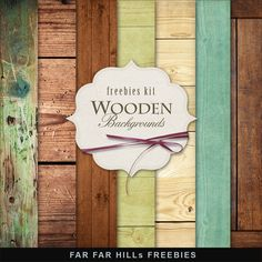 Far Far Hill - Free database of digital illustrations and papers: Freebies Wooden Backgrounds