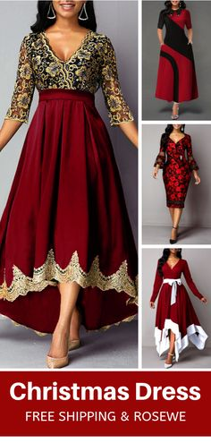 Christmas Dress For 2019 Elegant Dresses, Pretty Dresses, Beautiful Outfits, Cool Outfits, Evening Dresses, Prom Dresses, Women's Fashion Dresses, The Dress, Plus Size Fashion