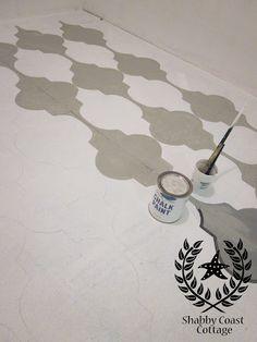 painted/stenciled floors 2 ways_v02 by Shabby Coast Cottage via Meghan