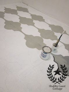 painted/stenciled floors 2 ways_v02 by Shabby Coast Cottage via Meghan
