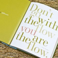 Don't go with the flow