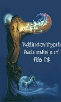 Exactly what I'm trying to create in my book! A world where magick is within.