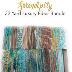 32 Yard Yarn Art Bundle...Meet Serendipity...Fiber & Ribbon Art Textures for creative embellishment by Panachely on Etsy