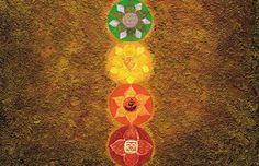 """Ausschnitt Energiebild """"Das Chakra Licht""""   Spiritual healing picture """"The Light Chakra""""   Der Sinn dieses Pendelns zwischen den Ufern des Lebens ist der Aufstieg des Bewusstseins über die Stufen der Jakobsleiter zum All-Bewusstsein. Denn jede Erkenntnis ist eine Bewusstseinsstufe und führt zum Anstieg der Kundalini. Damit vollzieht sich der Aufstieg vom körperlich-animalischen (Wurzelchakra) zum All-Bewusstsein (Kronenchakra). Das ist der Bewusstwerdungsprozess der individuellen Seele."""