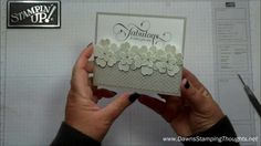 cardmaking video tutorial: Million & One flower card with Dawn ... fun design ... Stampin' Up!