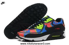 Nike Air Max 90 2013 Differentiation Black Green Orange Mens Shoes 2013 Free Shoes