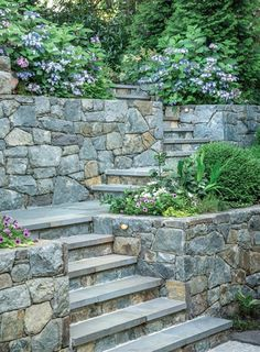 Sloped Backyard Landscaping, Backyard Retaining Walls, Terraced Landscaping, Sloped Garden, Landscaping Ideas, Landscape Stairs, Landscape Design, Landscape Lighting, Landscape Architecture
