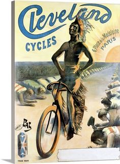 Cleveland Cycles, Vintage Poster, by Jean de Paleologue  kK