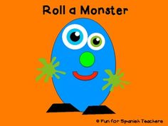 Roll a Monster in Spanish class {Freebie}