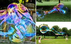 Riesige Seifenblasen selber machen - Eine spaßige Idee