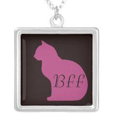 Cat Silhouette Custom BFF Pendant