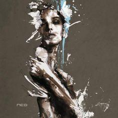 Florian Nicolle - Une combinaison de textures et de lignes pour un rendu explosif! http://space-art.fr/illustration-florian-nicolle/
